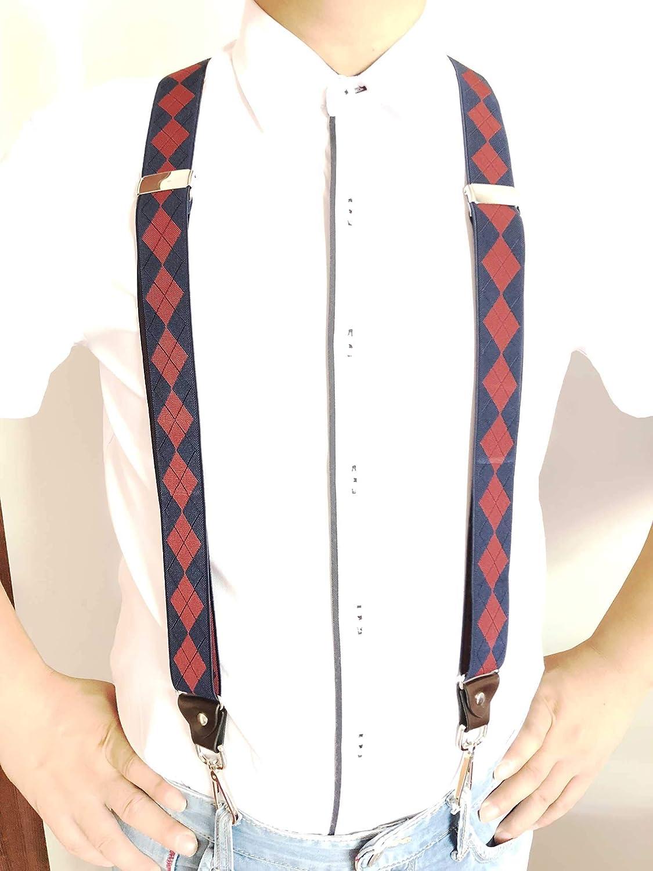 JIERKU Mens Suspenders with Swivel Hooks on Belt Loops Heavy Duty Big and Tall Adjustable Braces