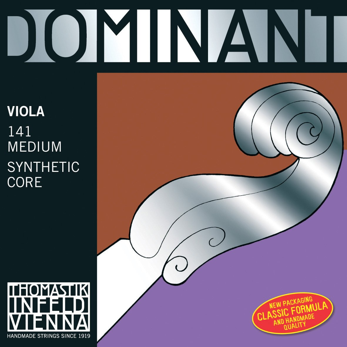 Thomastik-Infeld 138 Dominant Nylon Core Viola String, Medium Gauge, 4/4 Scale, G