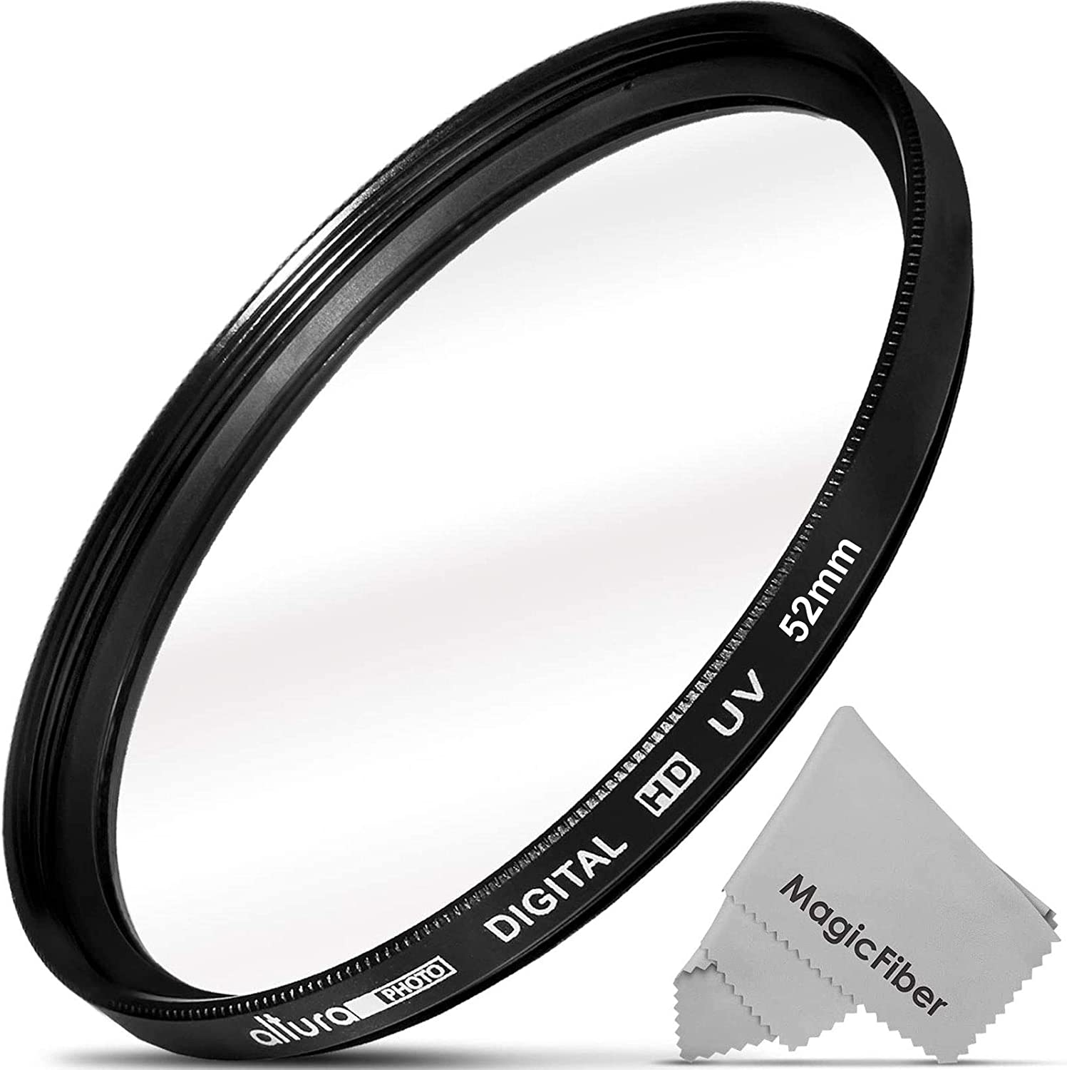 52mm Multithreaded Glass Filter for Nikon D5200 Haze 1A Multicoated UV