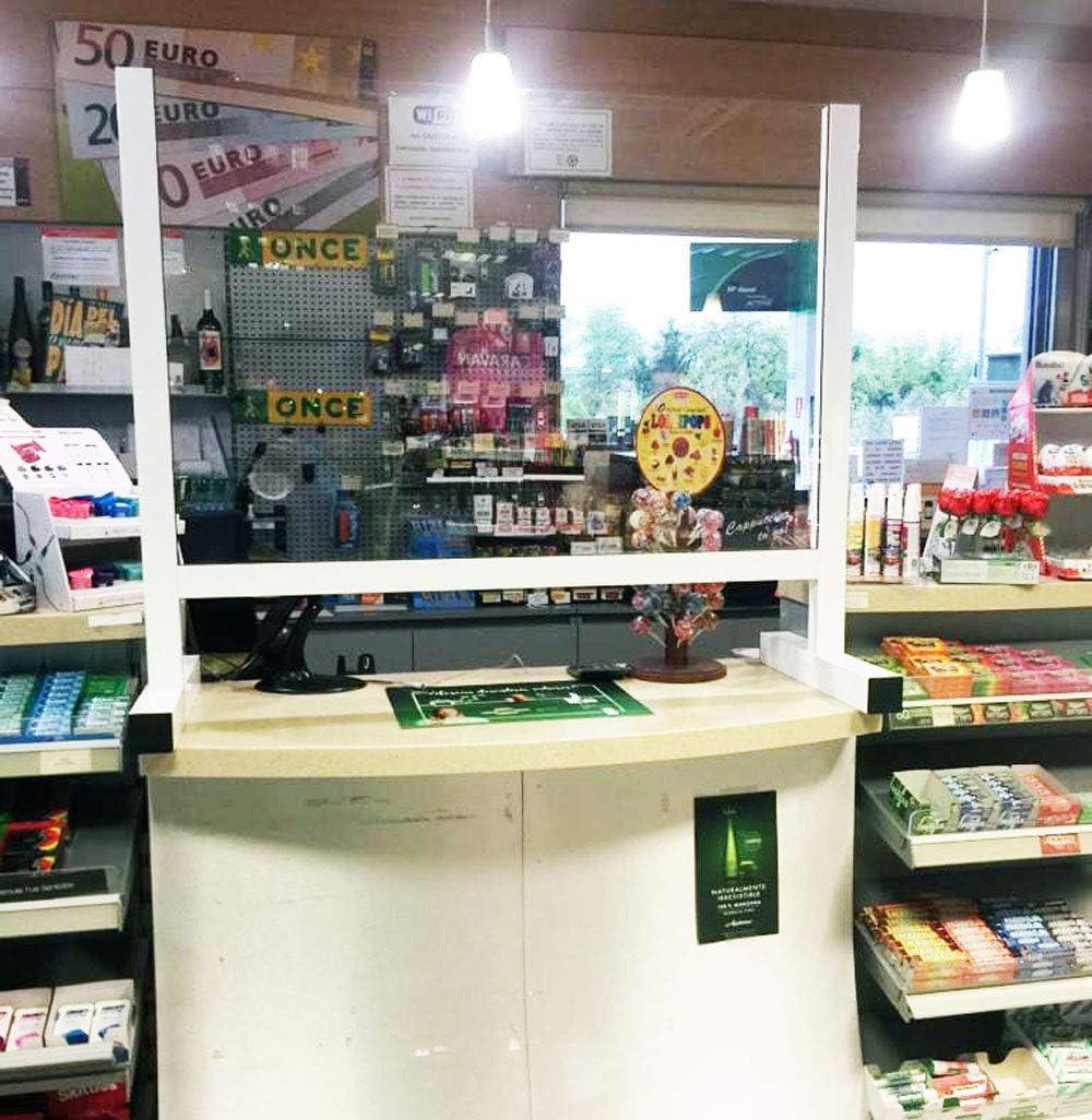 ISOCONFORT CARLOS BLASCO GARCIA ZARAGOZA 140X100. Mampara Metacrilato de Protección para Mostradores Tiendas Comercios Estancos Farmacias Sin Instalación Envíos 24h. 140x100: Amazon.es: Hogar