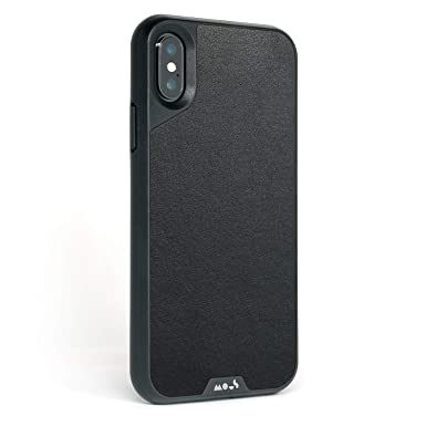Mous Protective iPhone X/XS Case - Black Leather - Screen Protector Inc.