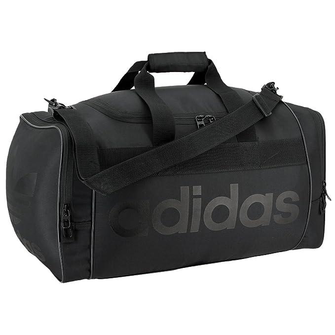 079b476de Amazon.com: adidas Originals Santiago Duffel Bag, Black/Black, One ...