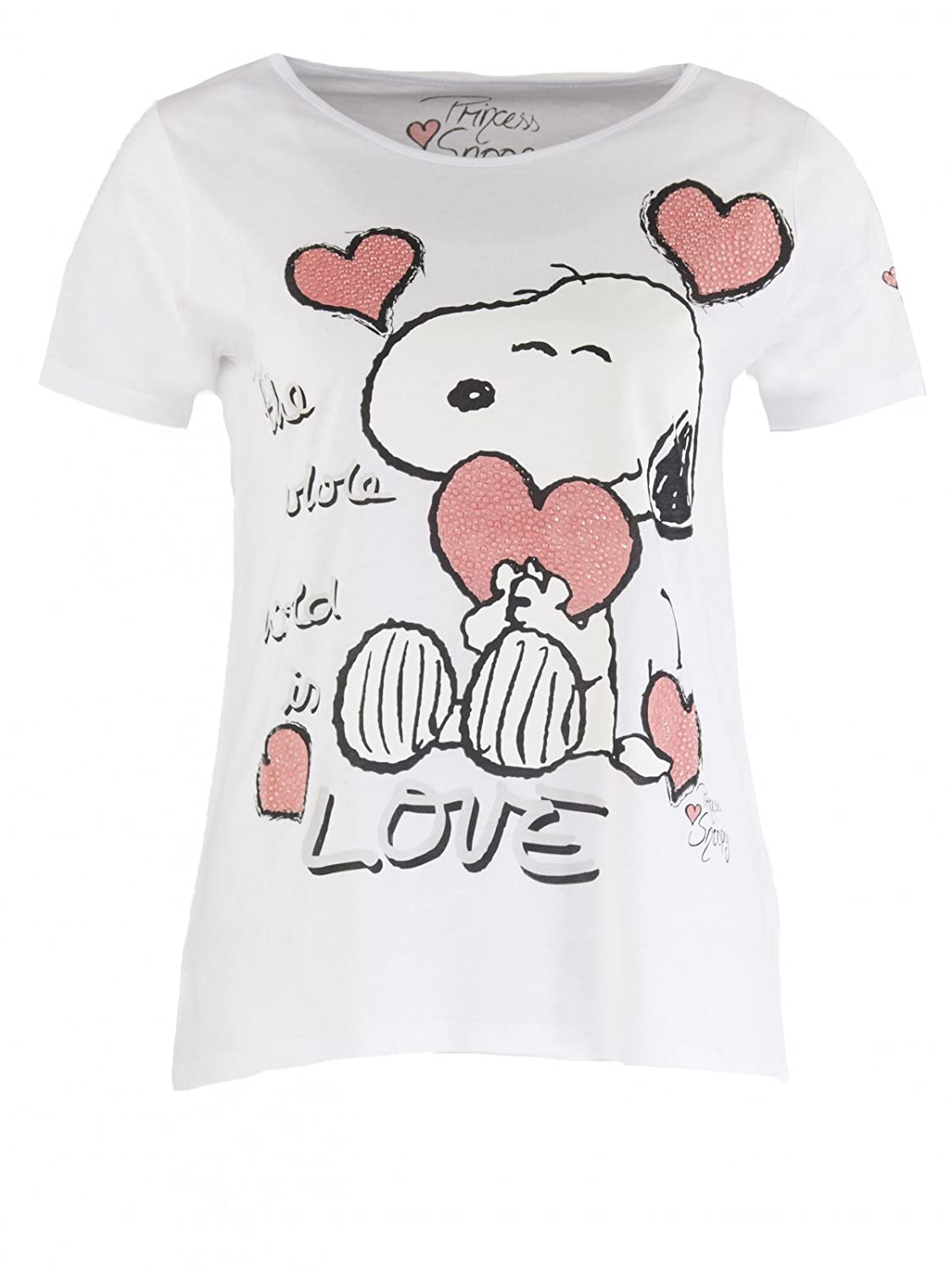 Princess goes Hollywood Damen Snoopy World is Love T-Shirt