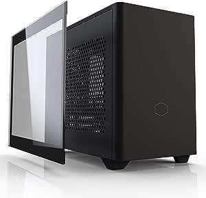 Cooler Master MasterBox NR200P Caja Ordenador Mini ITX - Panel Lateral Cristal Templado, Opciones de Enfriamiento Optimos, Exposición GPU Vertical, Accesibilidad 360 Grados Sin Herramientas, Negro