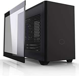 Cooler Master NR200P SFF Small Form Factor Mini-ITX Case with Tempered Glass or Vented Panel Option, PCI Riser Cable, Triple-Slot GPU, Tool-Free and 360 Degree Accessibility
