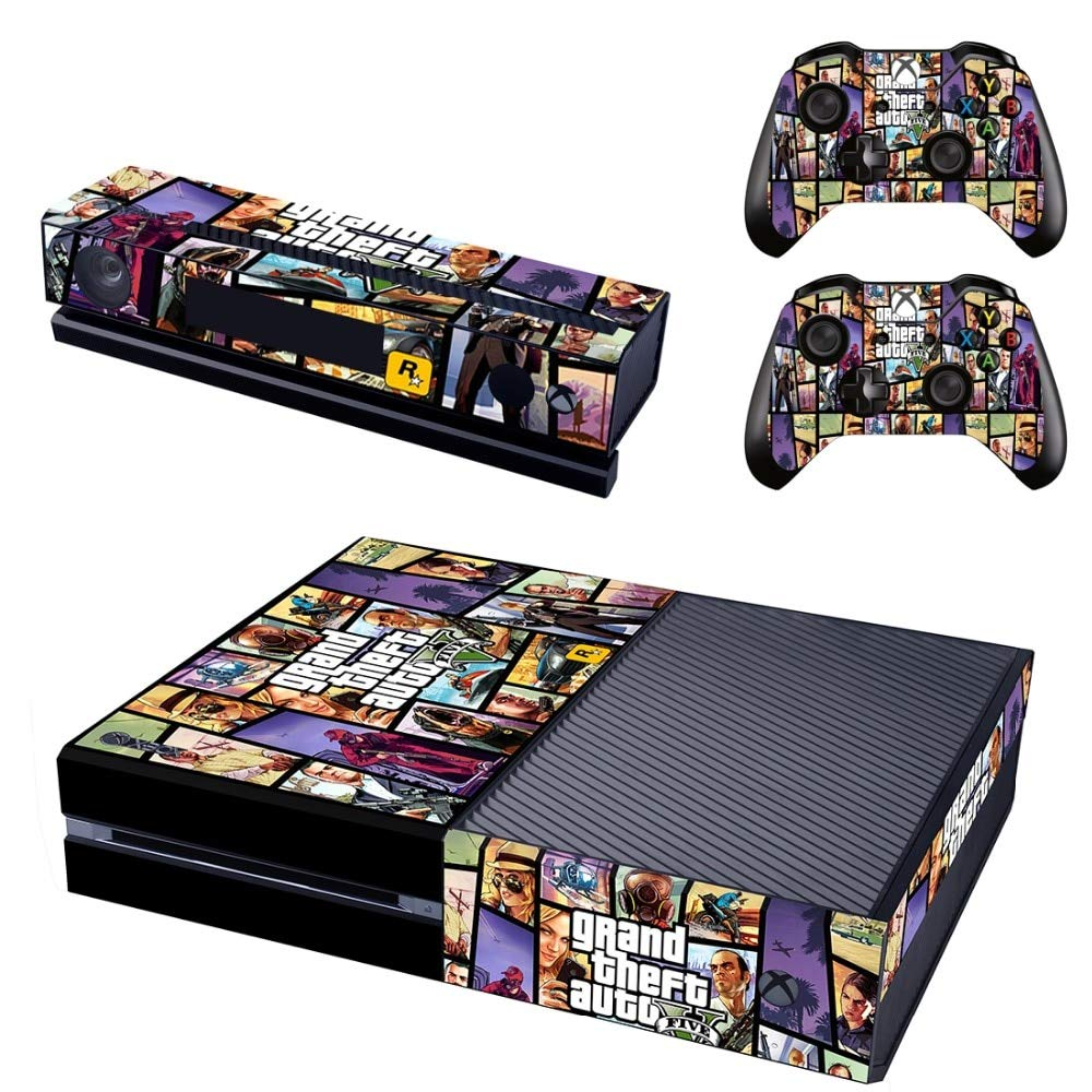 Xbox One Skin Set - GTA V HD Printing Skin Cover Protective for Xbox One Console, Kinect & 2 Controller by Mr Wonderful Skin
