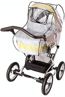 transparent DIAGO 30003.75340 Premium Regenschutz Kinderwagen mit Reflektorstreifen