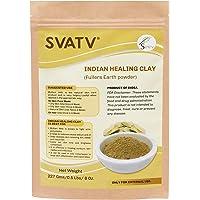 SVATV - Indian Healing Clay :: Multani Mitti - 0.5 lb. :: 227 g   Deep Pore Cleansing Facial & Body Mask   The Original 100% Natural Calcium Bentonite Clay