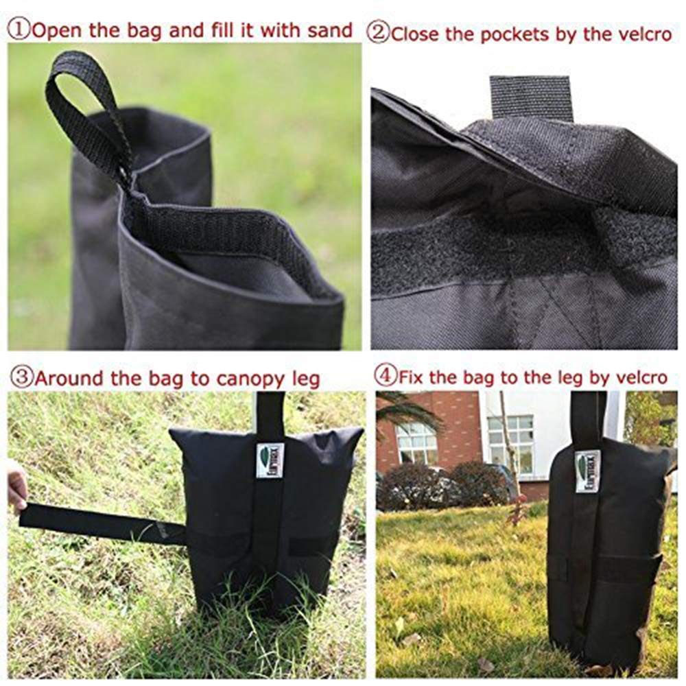 Eurmax New Weight Bags for Pop up Canopy Instant Shelter, Sand Bags, Leg Weights for Pop up Canopy Weighted Feet Bag Sand Bag, Set of 6 by Eurmax (Image #6)