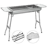 Special Grill klein schwarz Exclusive Camping Balkon Picknick ✔ eckig ✔ tragbar ✔ Grillen mit Holzkohle ✔ für den Tisch