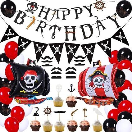 Amazon.com: 75 piezas de decoración de fiesta de cumpleaños ...