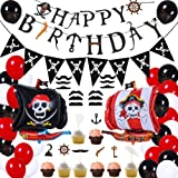 Pirate Birthday Party Decorations for Kids Pirate Theme Party Supplies Birthday Party Baby Shower Pirate Happy Birthday Banne