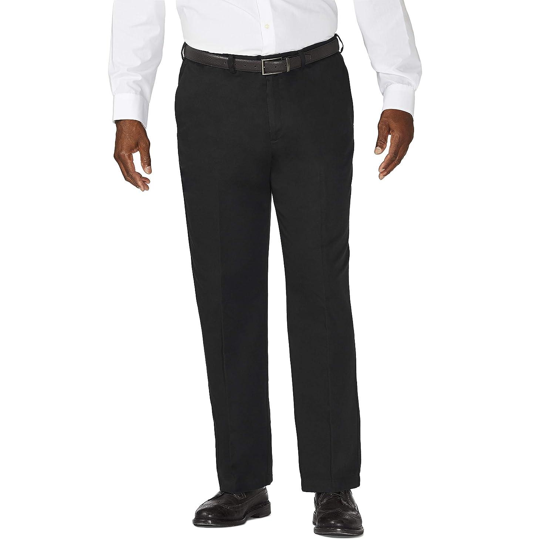 Haggar Mens Big /& Tall Work to Weekend Hidden Expandable-Waist Plain-Front Pant