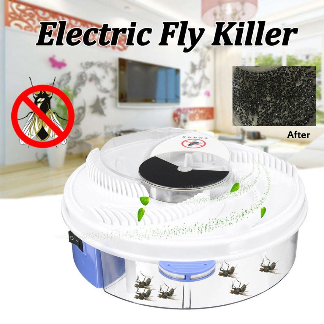 Hechun Electric Fly Insect Trap Indoor Bug Fly Device with Trapping Food Mosquito Killer Pest Control Pest Catcher (White) by Hechun (Image #6)
