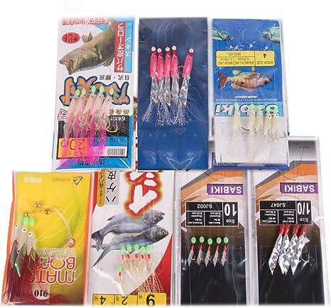 3 packets Sabiki Rig 6 Hook Fishskin Rig Herring Rig
