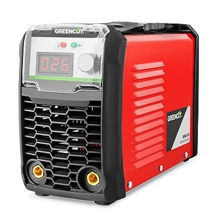 GREENCUT MMA-200 Soldador Inverter Turbo Ventilado, Rojo 200 A &Silverline 742076 - Guantes para soldador (330 mm): Amazon.es: Bricolaje y herramientas