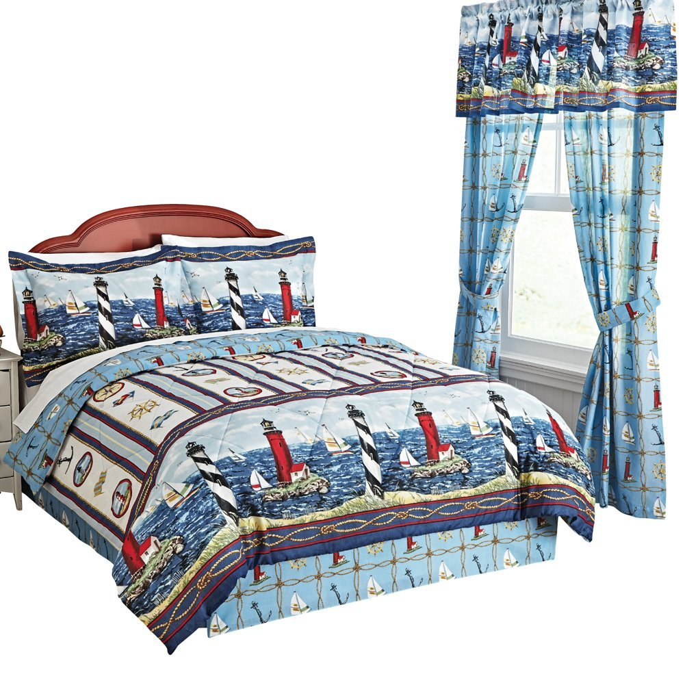 Lighthouse Comforter Set, King, Multi