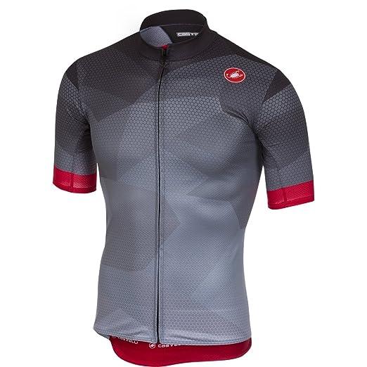 Amazon.com  Castelli Men s Flusso Full Zip Bike Jersey  Sports ... 70528aab5