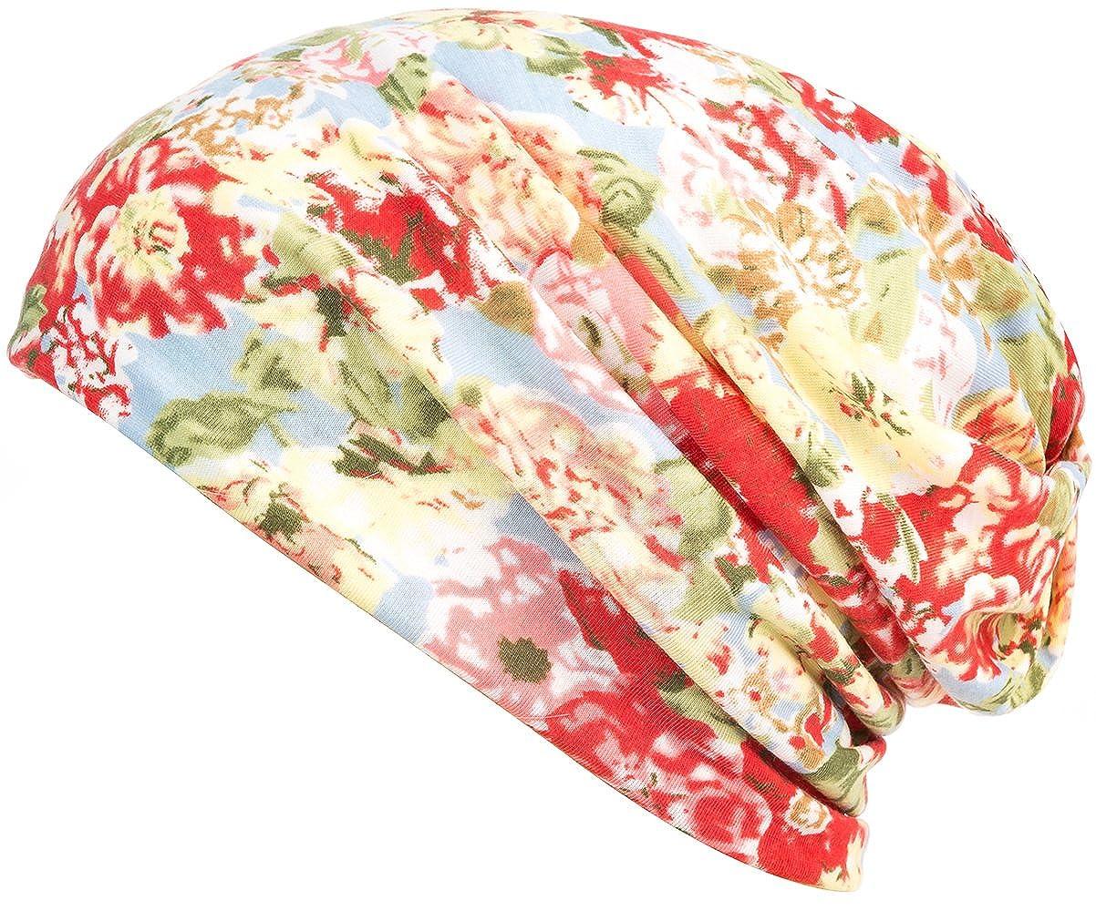 HONENNA Printed Turban Headband Chemo Cap Cotton Soft Sleep Beanie … HNT1036-Beign