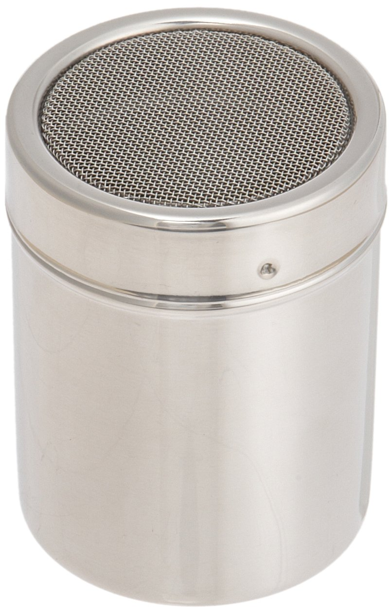 Ateco 1347 Stainless Steel Shaker, 4-ounce Capacity with Fine Mesh by Ateco