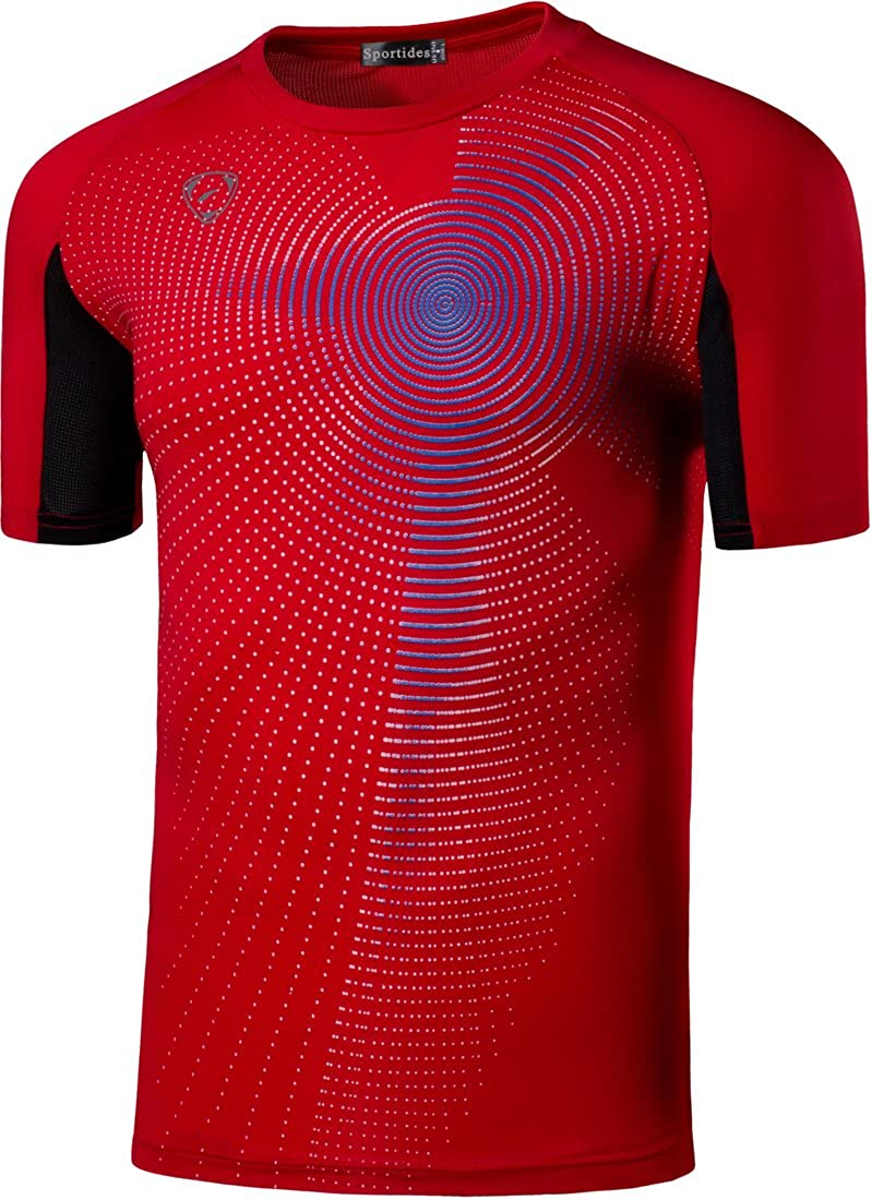 Sportides Boys Quick Dry Active Sport Short Sleeve Breathable T-Shirt Tee Top LBS701