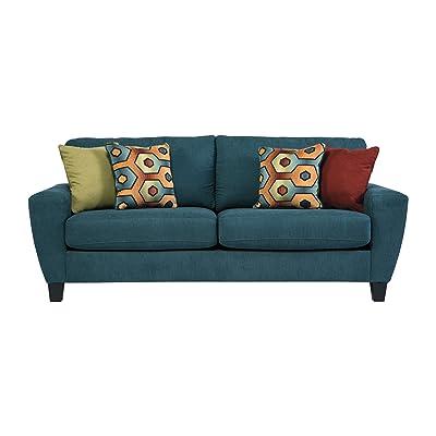 Ashley Sagen Fabric Sofa in Teal