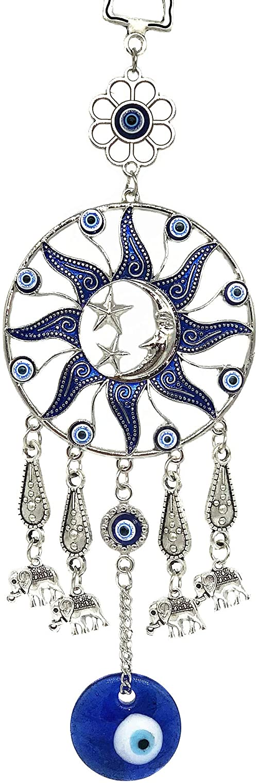 Betterdecor Turkish Blue Evil Eye Protective Wall Hanging Decor Amulet Ornament (Pouch)-SSM