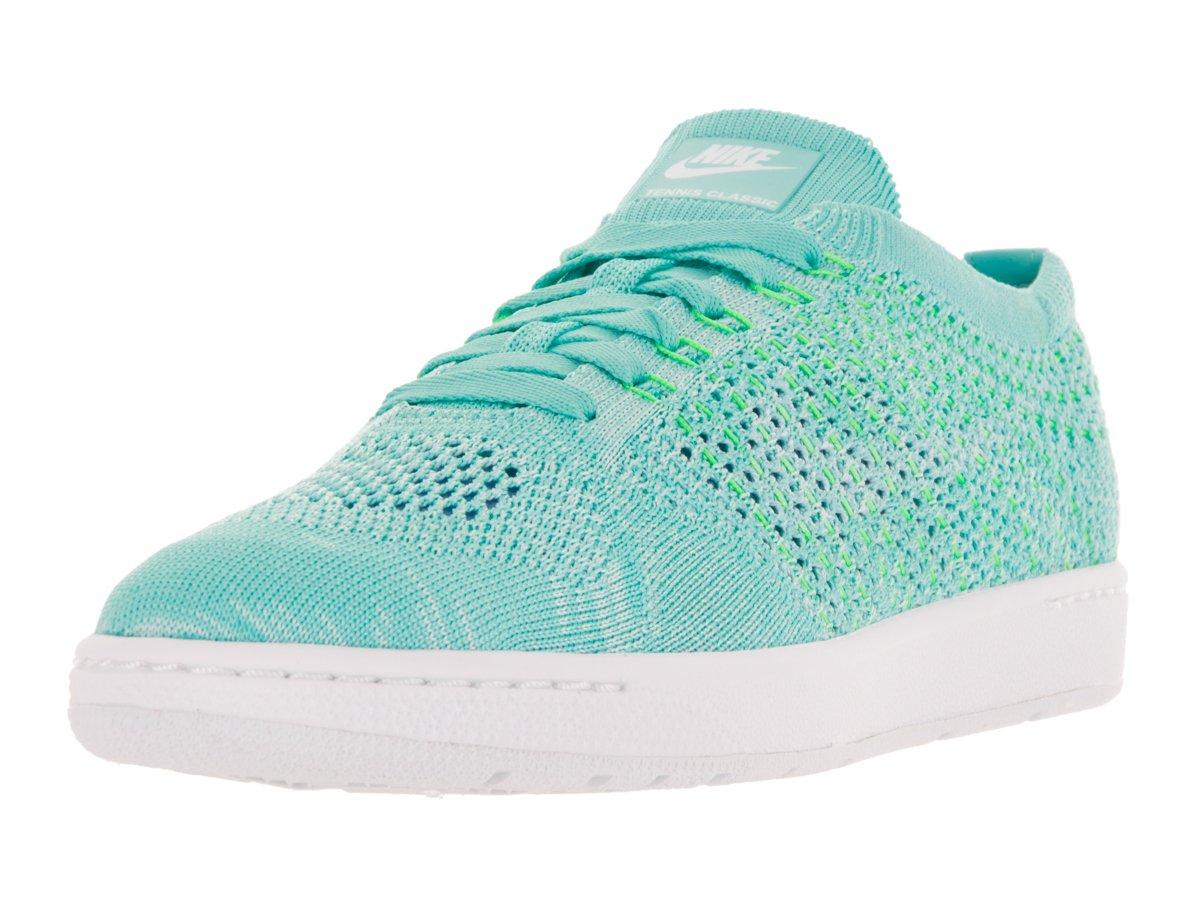 Nike Women's Tennis Classic Ultra Flyknit Hyper Turq/White Tennis Shoe 9 Women US