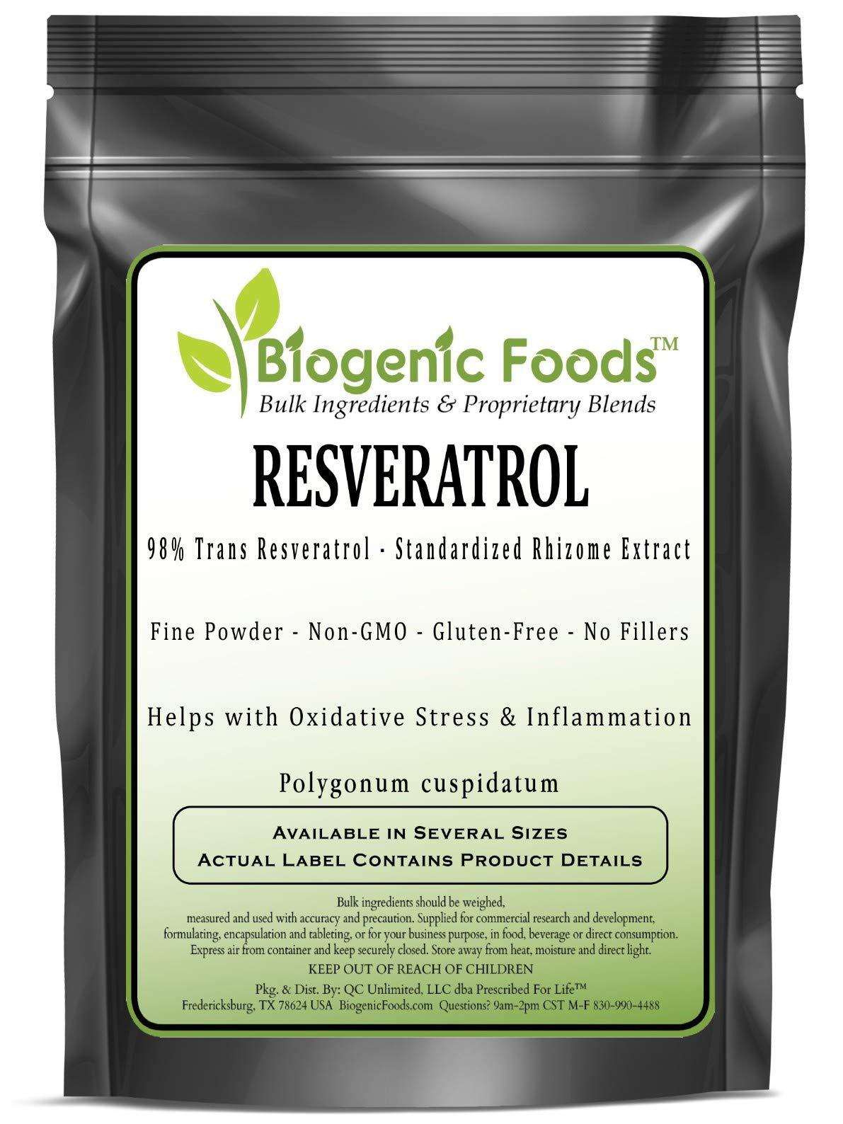 Resveratrol - 98% Trans Resveratrol - Standardized Rhizome Fine Powder Extract (Polygonum cuspidatum), 1 kg