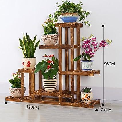 Soporte Macetas Estanterias Para Macetas Soporte De Flores De Madera - Estanteria-para-plantas