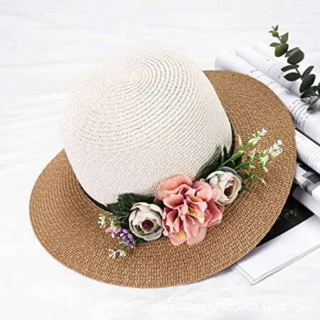 zlhcich Sombrero de Paja Sombrero de Playa de Verano ...