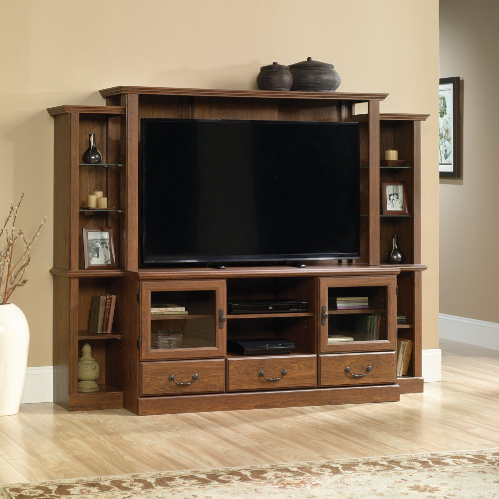 amazon com sauder orchard hills entertainment center in milled
