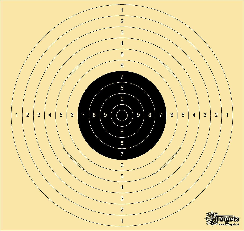 Est/ándar Target Xls *//54/x 52/cm//1500/mm itzt//Tiro Scheibe Cart/ón 200/g//m/² Grandes
