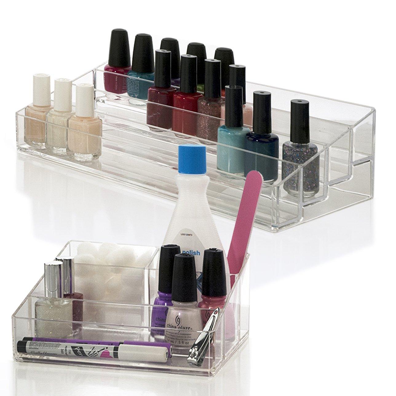 Amazon.com: Nail Polish & Accessory Organizer 2 Piece Set: Beauty