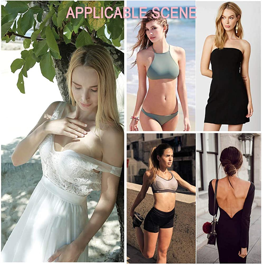Nipple Covers for Women Breast Lift Pasties Silicone Reusable Nippleless Adhesive Bra
