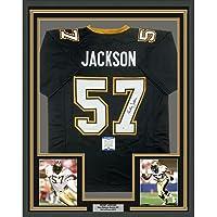 $399 » Framed Autographed/Signed Rickey Jackson 33x42 New Orleans Black Football Jersey Beckett BAS COA