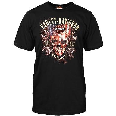 e34cc8c2 Amazon.com: Harley-Davidson Men's T-Shirt - Kandahar Air Base | Flag ...
