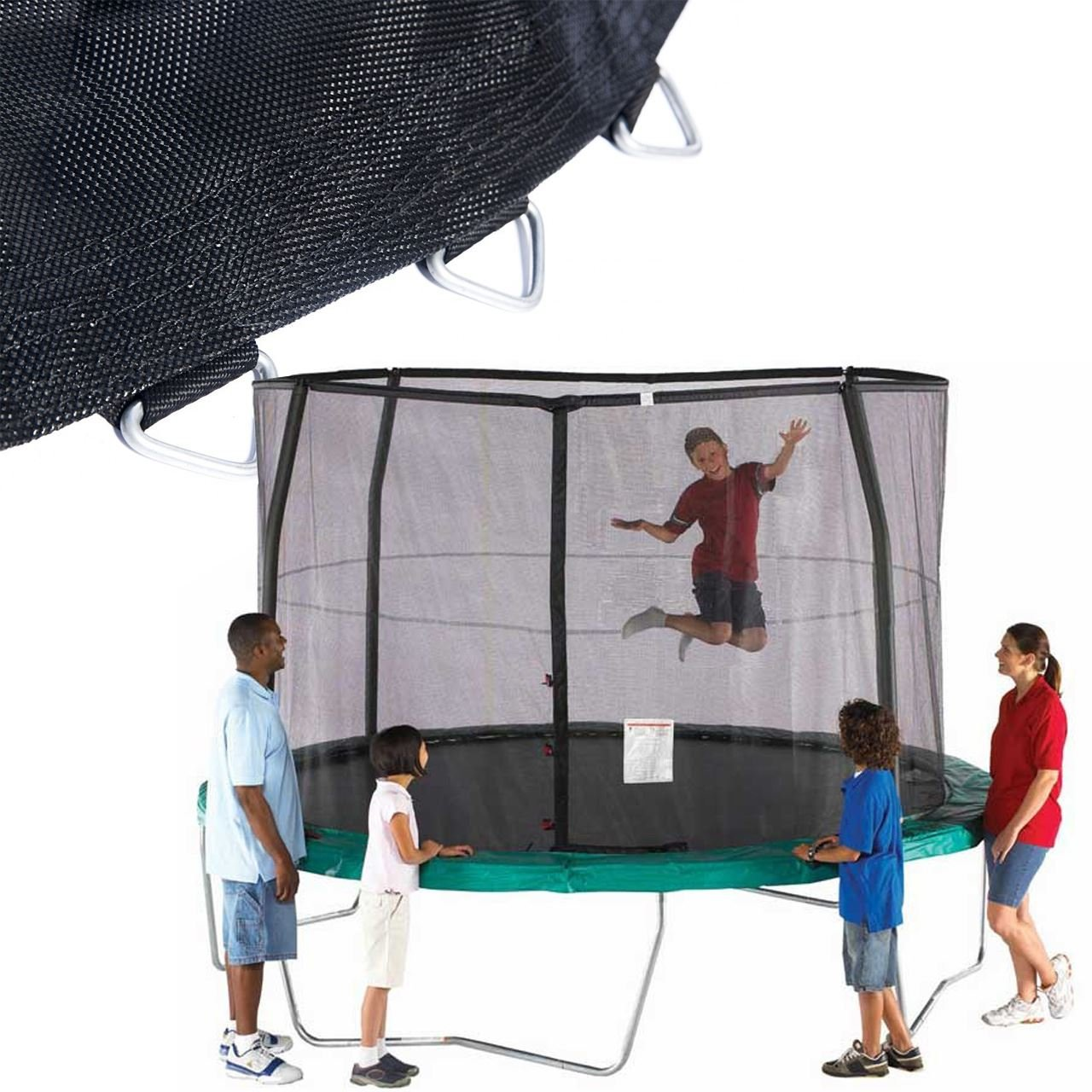 SkyBound 14' Net + Mat Combo (Fits Orbounder Brand Trampolines) by SkyBound