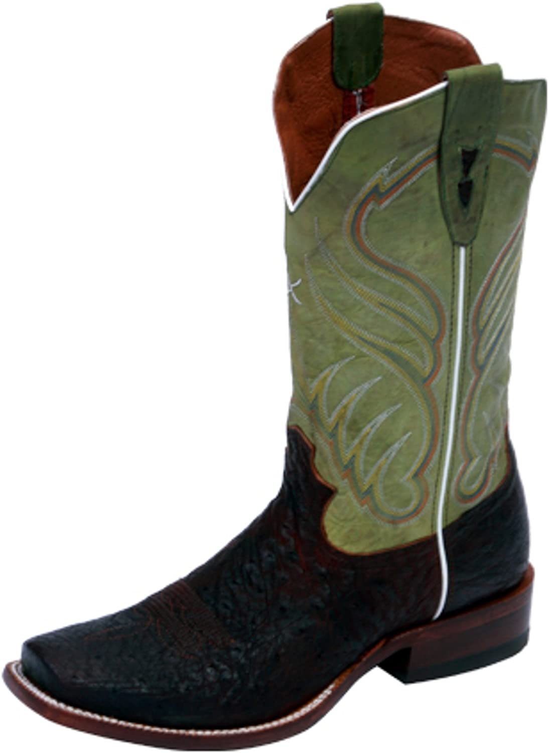 Twisted X Mens Ruff Stock Oiled Saddle Ostrich Boots