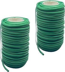 HNXAZG 2 PCS Plant Twist Ties, 65.6 Feet Soft Plant Tie. for Plants Heavy Duty Reusable Plant Twist Ties for Gardening Home Office