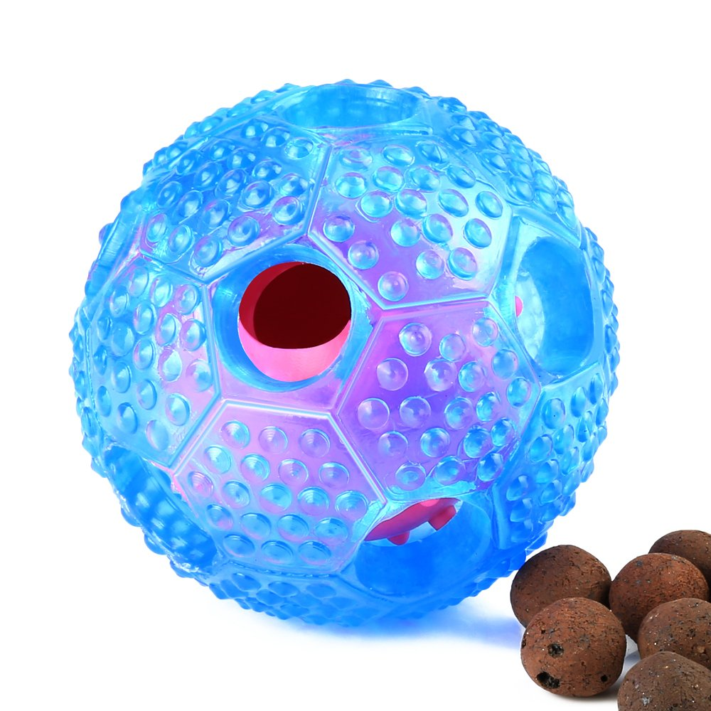 KAOSITONG Interactive Dog Toys - Pet Chew Toys IQ Treat Ball Toys for Small Medium Large Dogs - Durable Nontoxic Rubber and Bouncy, Cleans Teeth