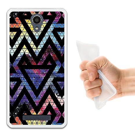 WoowCase Funda Xiaomi Redmi Note 2, [Xiaomi Redmi Note 2 ] Funda Silicona Gel Flexible Espacio Galaxia Triangulos Geométricos, Carcasa Case TPU ...
