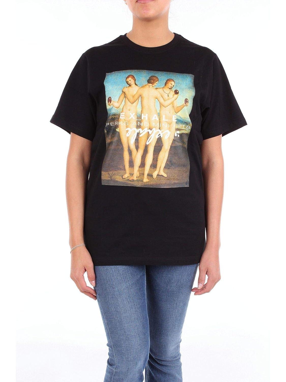P.A.M. Women's 2190DBLACK Black Cotton TShirt