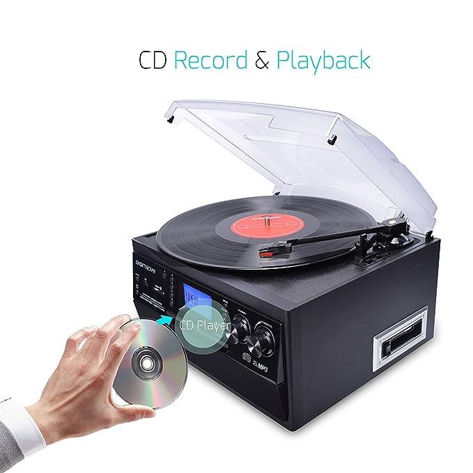 Amazon.com: digitnowBluetooth vinilo Tocadiscos Tocadiscos ...