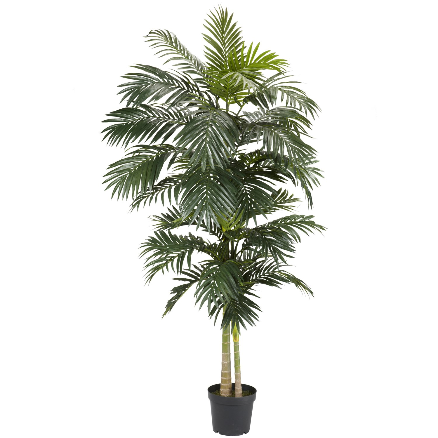 amazon com nearly natural 5326 golden cane palm silk tree 8 feet