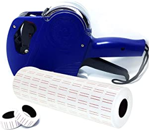 Mcupper-MX5500 EOS 8 Digits Price Tag Gun Labeler Labeller Included Labels & Spare Ink (Blue)