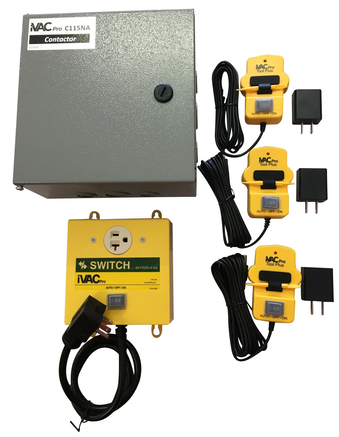 iVAC 3-Tool Automated Shop Vacuum Dust Collection Set for 1.5-10 HP Systems by iVAC