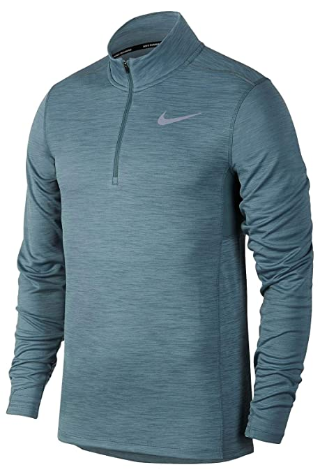 1292a0be Image Unavailable. Image not available for. Color: Nike Dry Men's Pacer  Half Zip Dri-Fit Long Sleeve Running Top