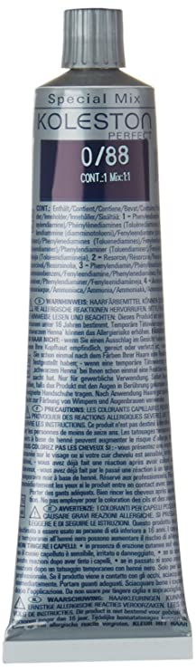Wella Professionals Koleston 0/88 Crème de coloration permanente bleu intense 60 ml: Amazon.fr: Beauté et Parfum