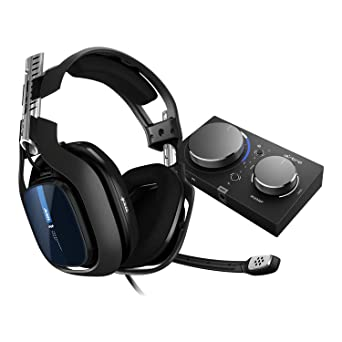 Astro A40 Tr Gaming Headsest Mixamp Pro Tr Adapter 4th Generation 7 1 Dolby Surround Sound Astro Audio V2 3 5 Mm Jack Removable Microphone Speaker Tags Ps4 Pc Mac Black Blue Games